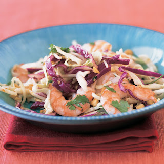Shrimp and Cabbage Slaw with Chile Sauce and Lime