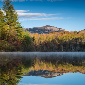Table Rock Reflection by Tom Moors - Landscapes Waterscapes ( reflection, mountain, table rock, sc )