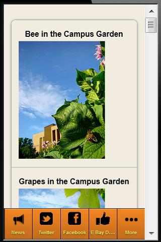Campus Food News - screenshot