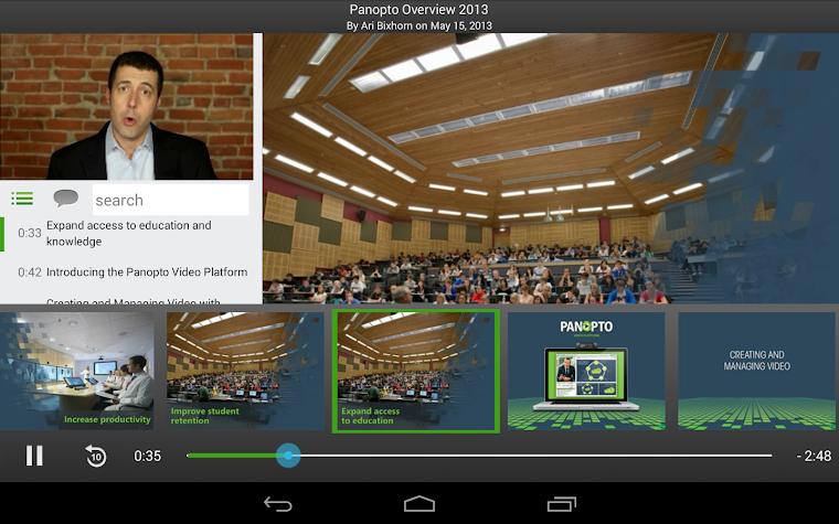 Panopto Screenshot