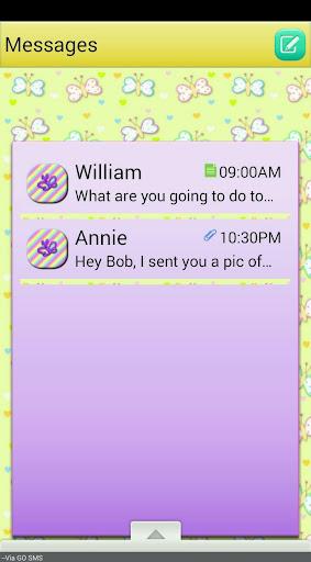 SpringButterflies GO SMS THEME