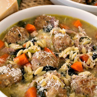 Turkey Meatball Soup with Orzo