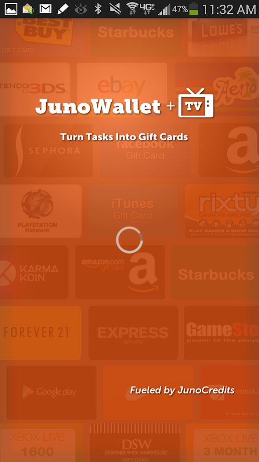 JunoWallet Earn Gift Cards NOW- screenshot