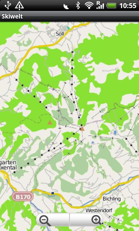Skiwelt Street Map- screenshot