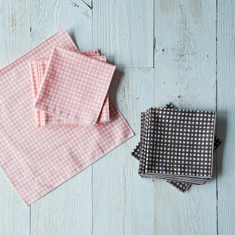 Gingham Organic Cotton Napkins Set of 8
