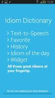 Screenshot of Idiom Dictionary