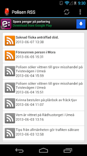 Polisen RSS - screenshot thumbnail