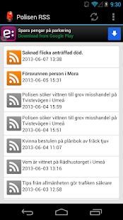 Polisen RSS - screenshot thumbnail