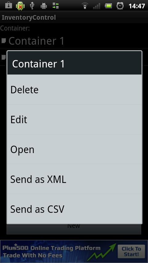 Control Inventory- screenshot