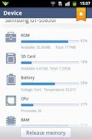 Screenshot of Device Info