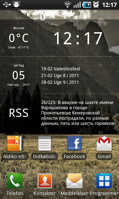 Glass Widgets - screenshot