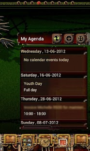 Steampunk GO Calendar Theme - screenshot thumbnail