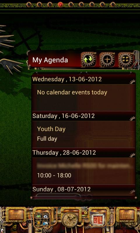 Steampunk GO Calendar Theme- screenshot