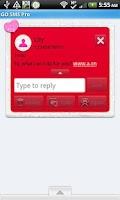 Screenshot of GO SMS - Kiss Me