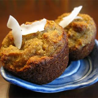 Gluten Free Coconut Macadamia Banana Muffins.