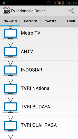 TV Indonesia Online - screenshot