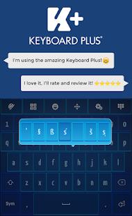 Modrá klávesnice HD - náhled