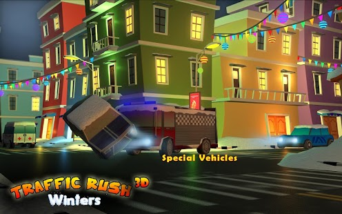Traffic Rush Winters 3D- screenshot thumbnail