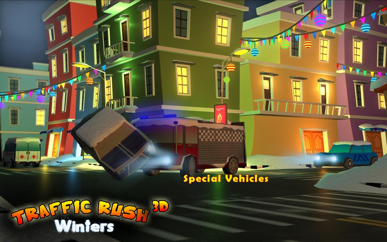 Traffic Rush Winters 3D- screenshot