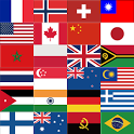 World flag quiz (guess flag) icon