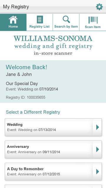William Sonoma Wedding Gifts: Williams-Sonoma Gift Registry