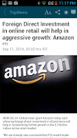 Screenshot of The Economic Times News
