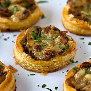 Caramelized Onion, Mushroom & Gruyere Tartlets.