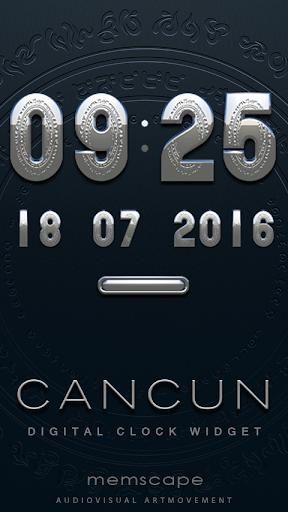 CANCUN Digital Clock Widget