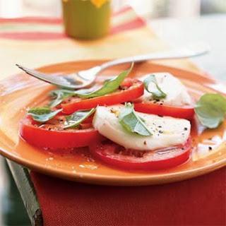 Tomato, Fresh Mozzarella, and Basil Salad.