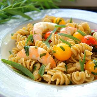 Whole Wheat Pasta Salad with Tarragon Shrimp.