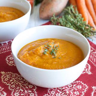 Roasted Carrot Sweet Potato Soup {Recipe Redux}