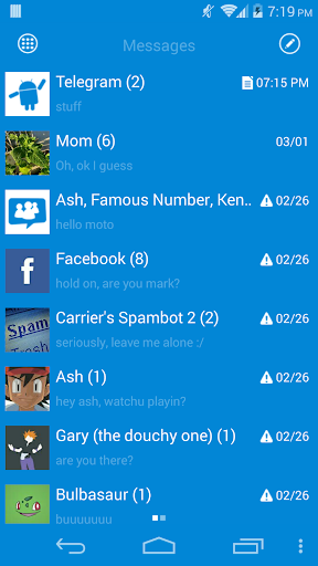 GOSMS WP8 Blue+ Theme