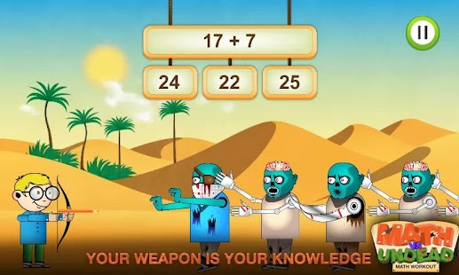 Math vs. Undead: Math Workout - screenshot thumbnail