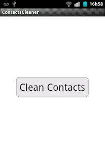Contacts Cleaner