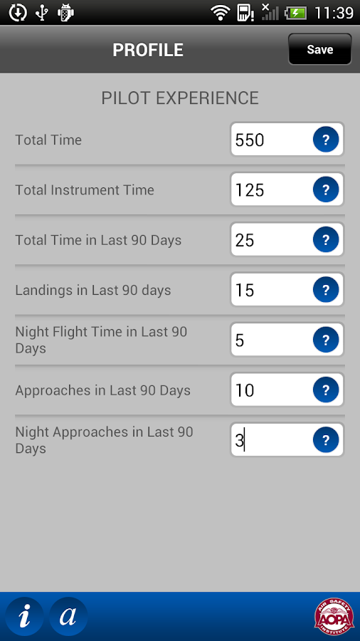 ASI Flight Risk Evaluator - screenshot