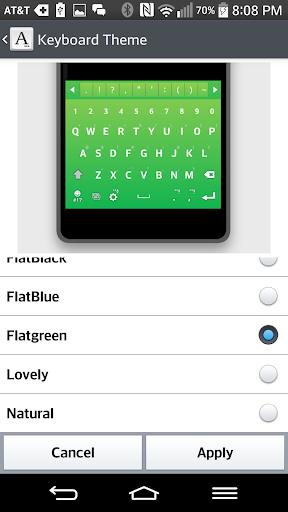 FlatGreen Keyboard LG THEME