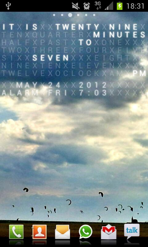 Text Clock Live Wallpaper- screenshot