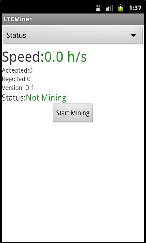 LTCMiner - screenshot
