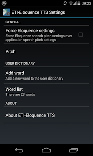 Eloquence Text To Speech- screenshot thumbnail
