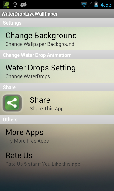 Water Drop Live Wallpaper 3D - Android Apps on Google Play