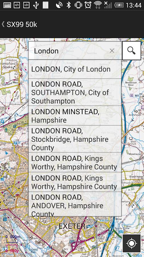 OS MapFinder- screenshot
