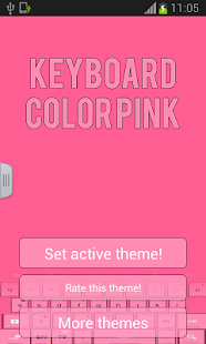 Keyboard Color Pink - screenshot thumbnail