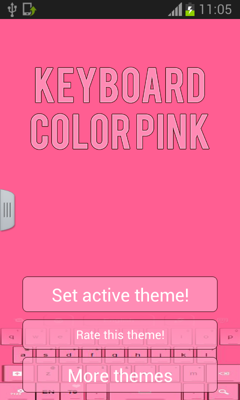 Keyboard Color Pink - screenshot