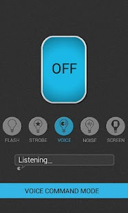 Voice Flashlight Free - screenshot thumbnail