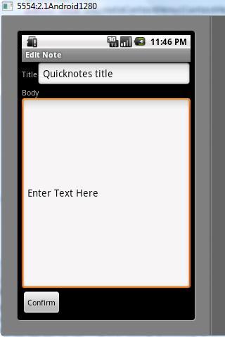 Quick Notes- screenshot