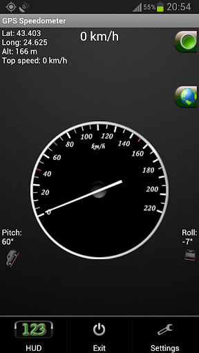 GPS Speedometer Flashlight