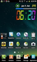 Screenshot of Rainbow Battery Clock (HD32)