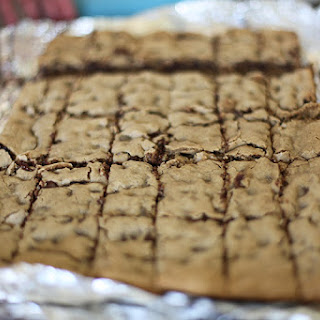 Gluten Free Chocolate Chip Toffee Bits Cookie Bars (Congo Bars).