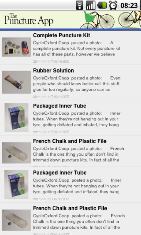 The Puncture Repair App - screenshot