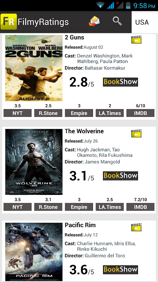 FilmyRatings - screenshot